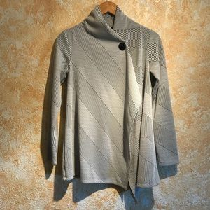 Asymmetrical sweater long tight sleeves size small